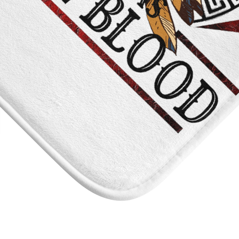 Old Man With Native Blood Bath Mat