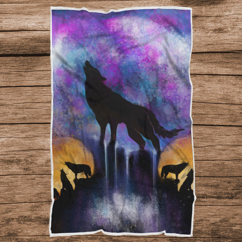 Wolf Amongst Us Sherpa blanket