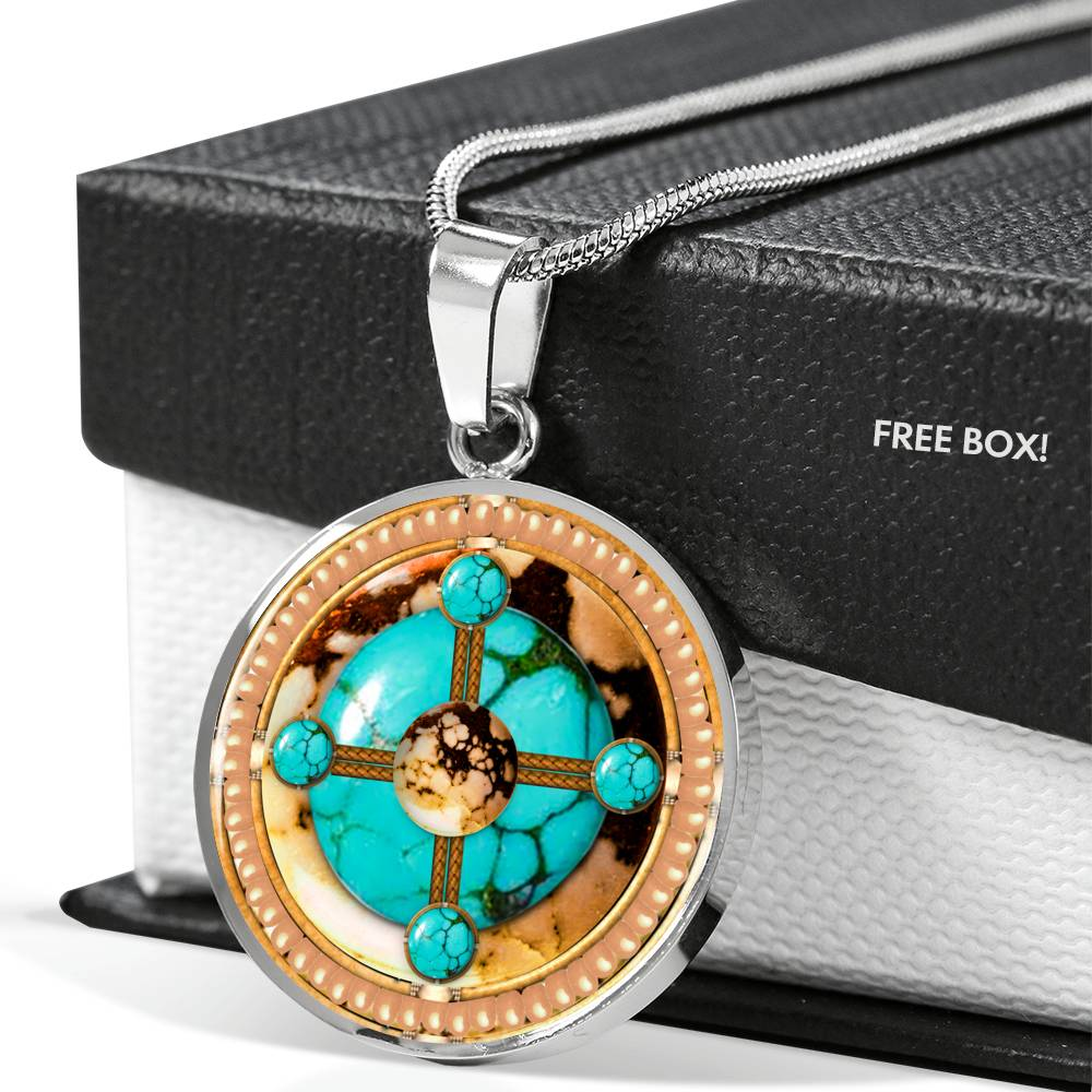 Turquoise Brave Stone Round Luxury Necklace