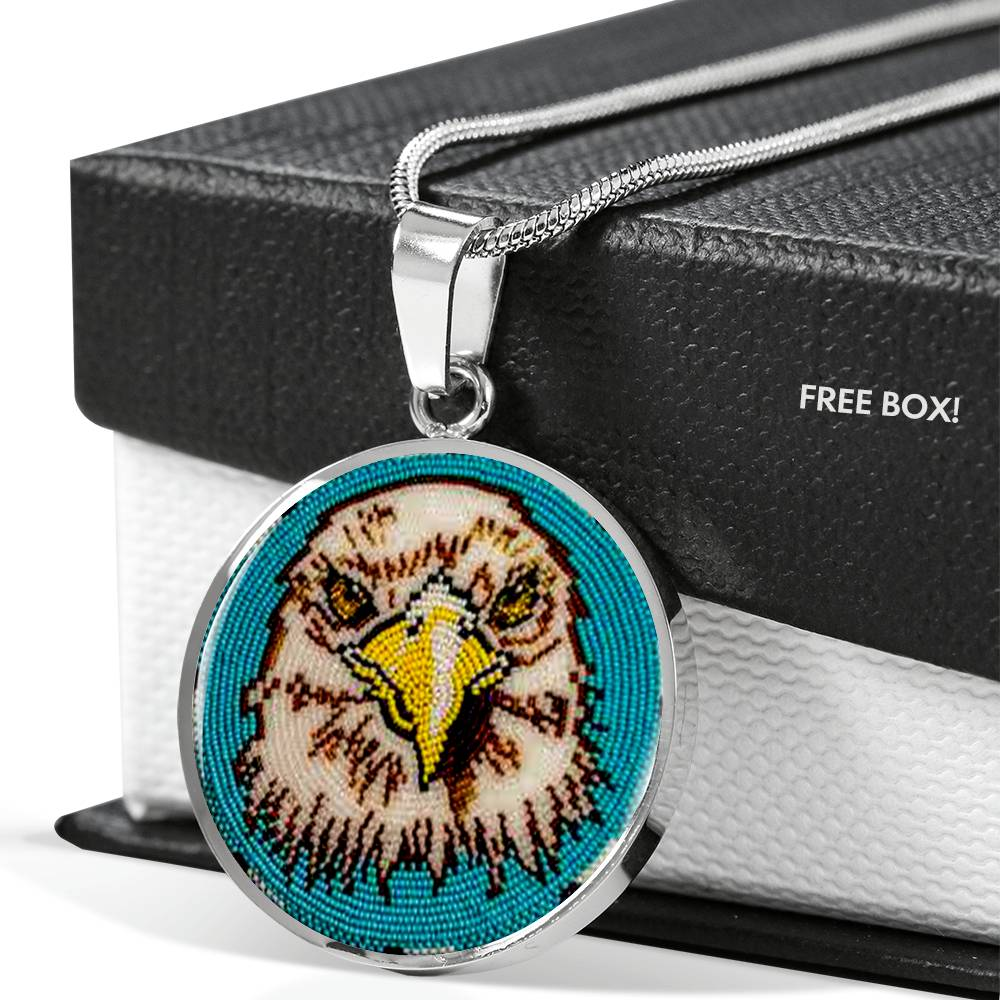 Valiant Eagle Round Luxury Necklace
