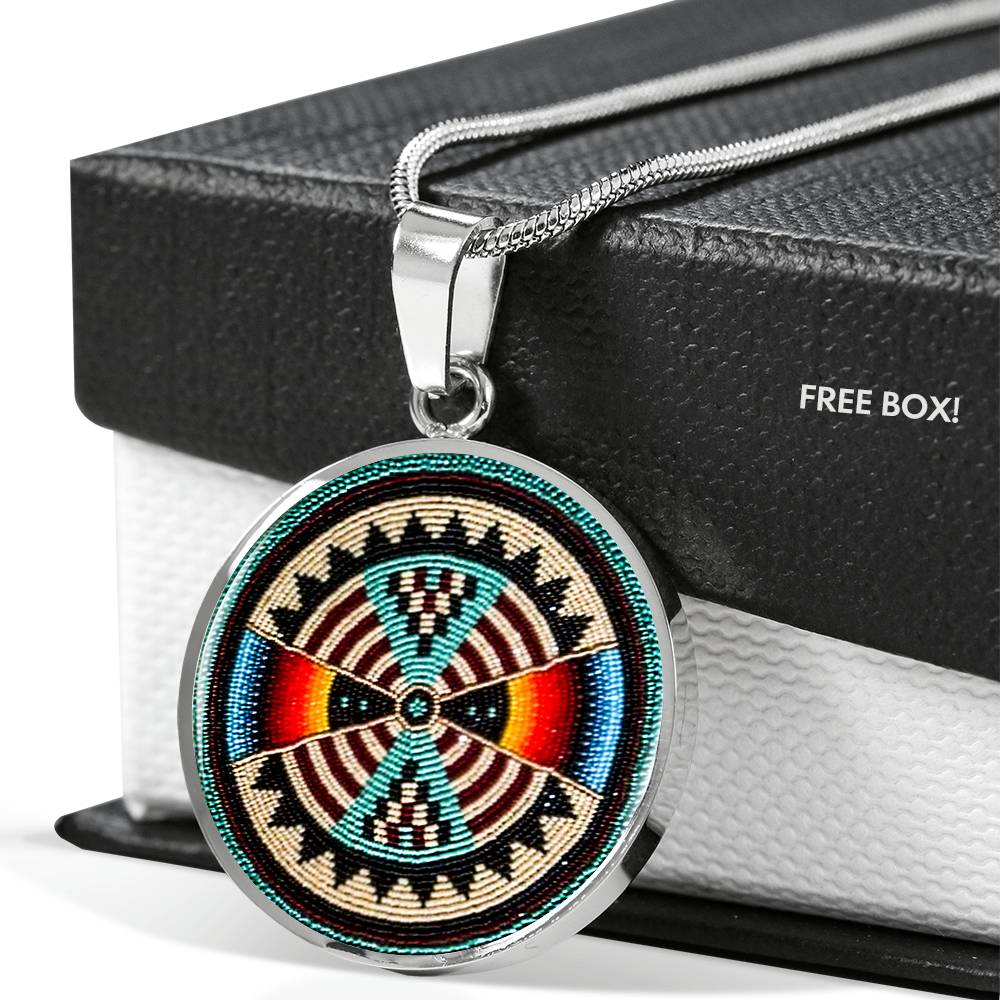 Lumbee Shield Round Luxury Necklace