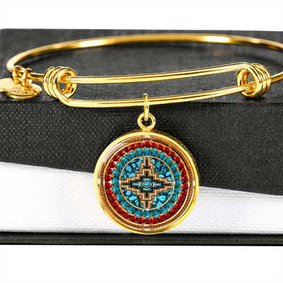 Tribal Cross Luxury Bangle