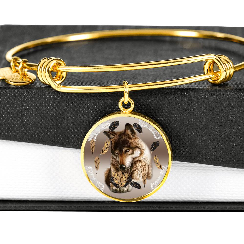 Wolf Love Luxury Bangle