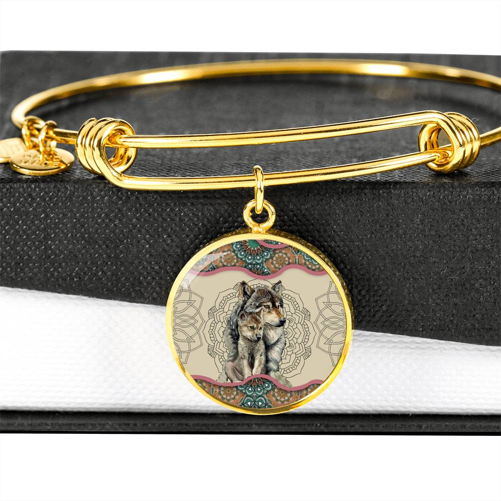 Wolf Mom's Love Luxury Bangle