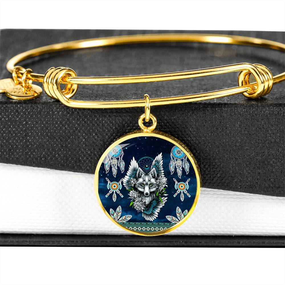 Wolf Dream Catcher  Luxury Bangle