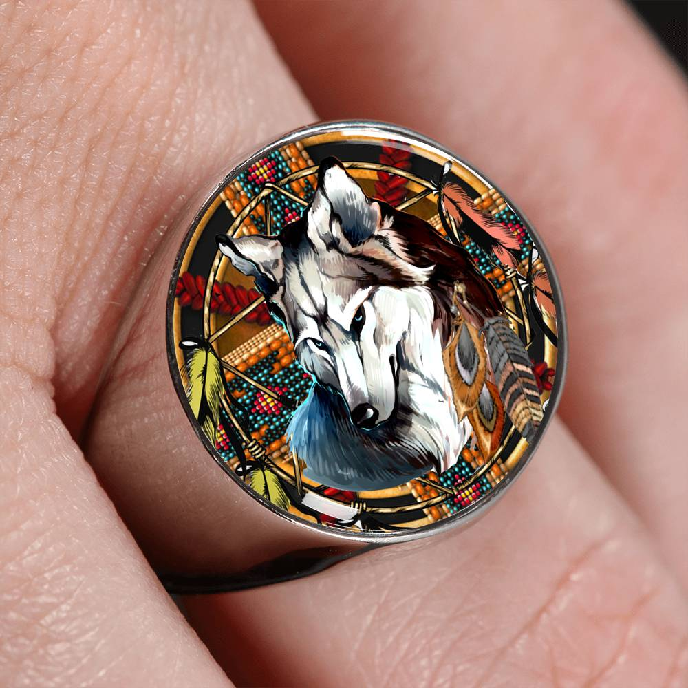 Mighty Wolf Signet Ring