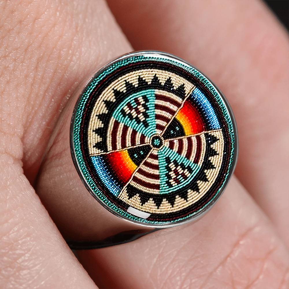 Lumbee Shield Signet Ring