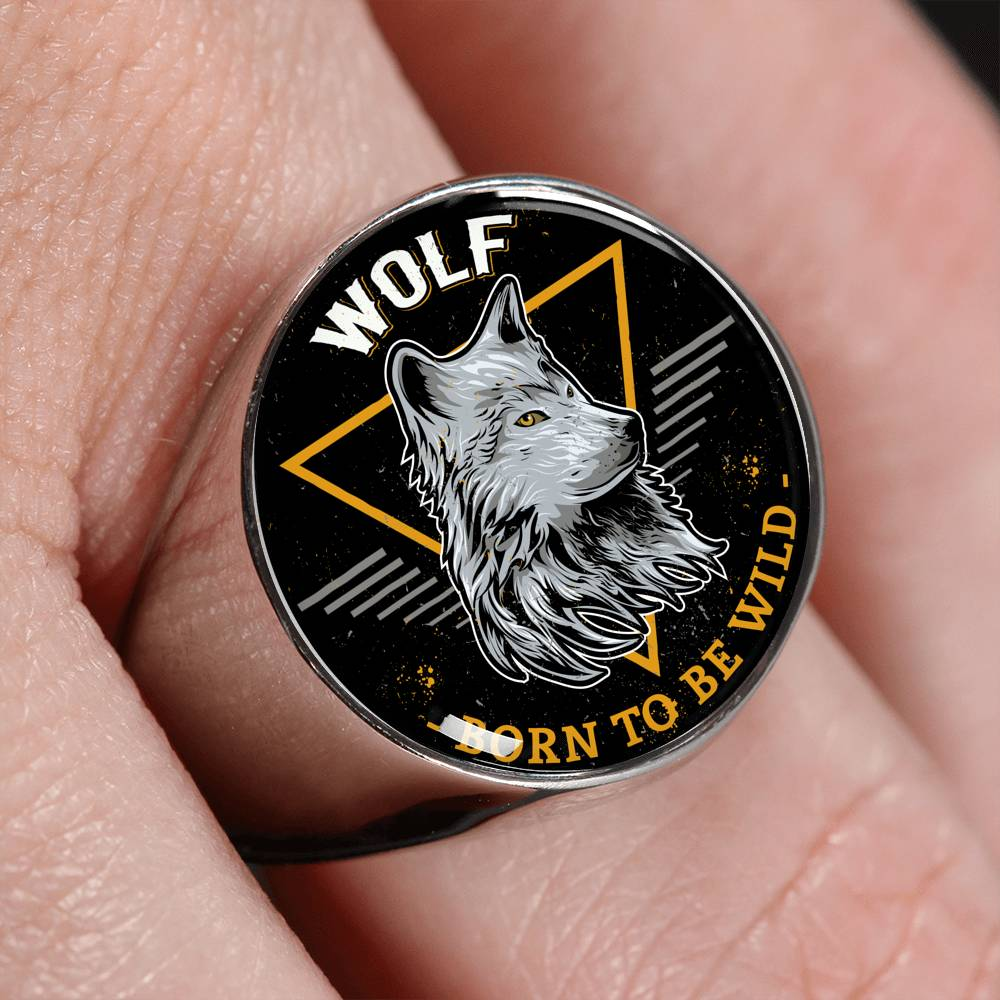 Born To Be Wild Signet Ring