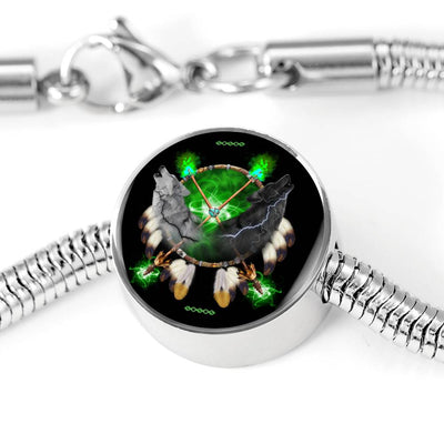 Day and Night Green Circle Luxury Bracelet