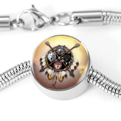 4 Wolves Warrior Light Circle Luxury Bracelet