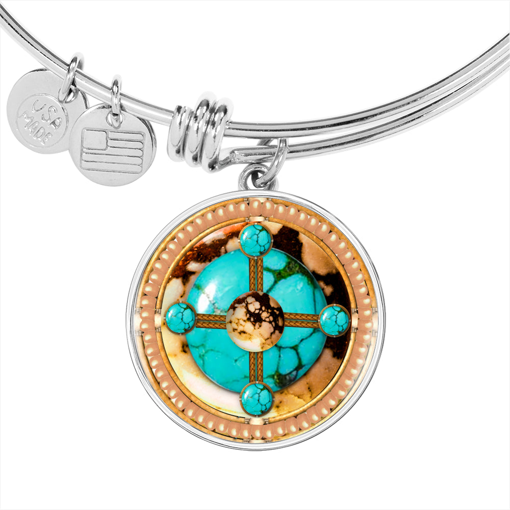 Turquoise Brave Stone Luxury Bangle