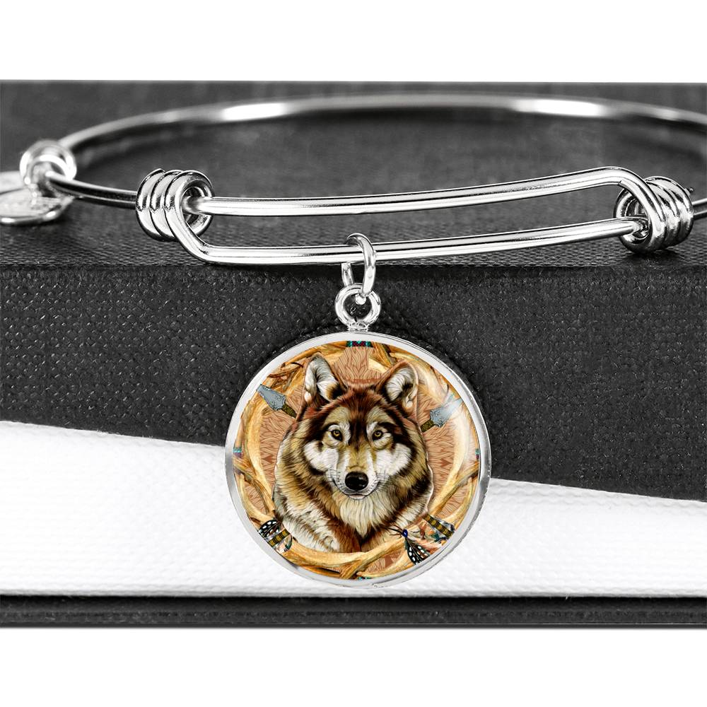 Wolf Emblem Luxury Bangle
