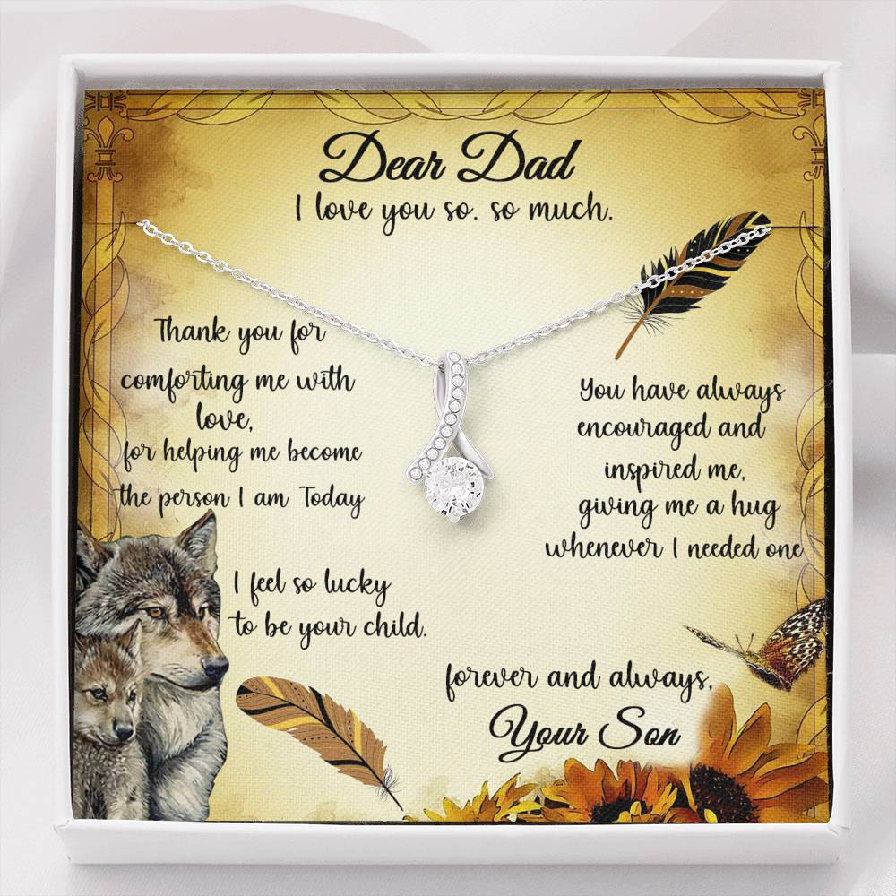 Gift To Dad Necklace With Message Card