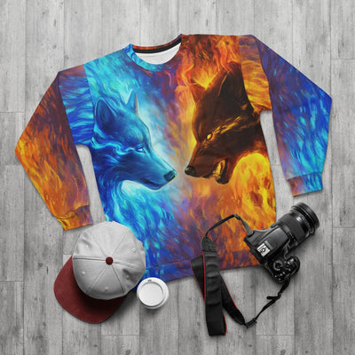 Fire and Ice by Jojoes Art All Over Print Sweatshirt