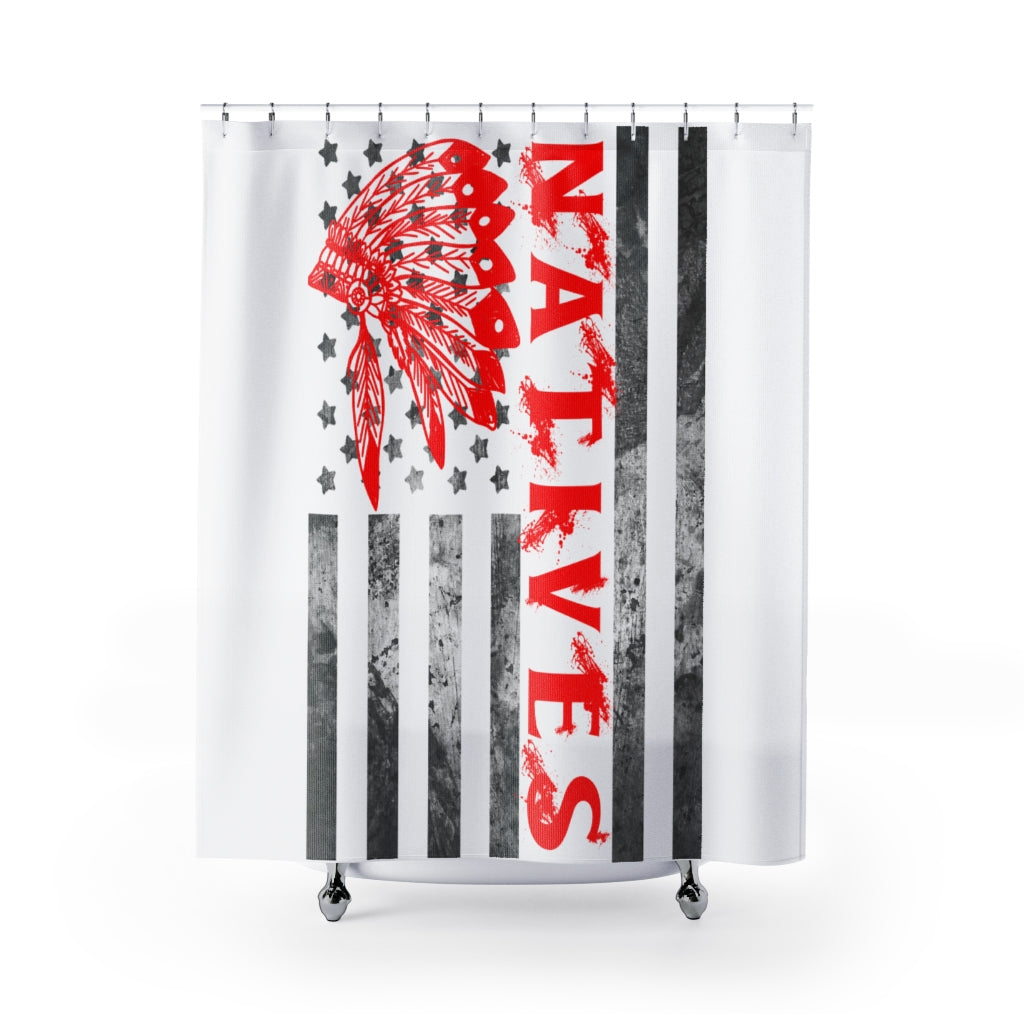 Make America Native Again Shower Curtains