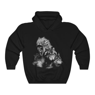 My Wolf, My Spirit Animal Hooded Sweatshirt