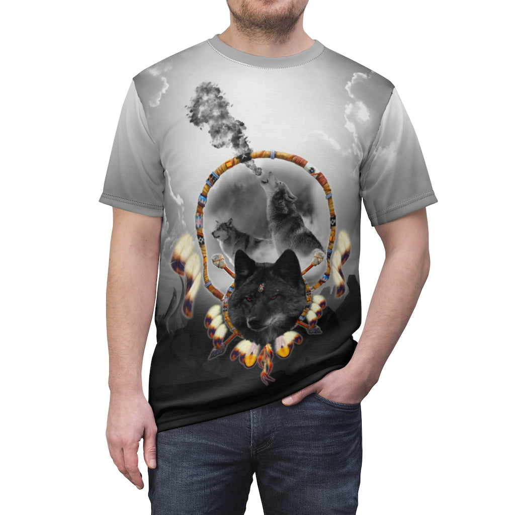 Alpha Wolf All Over Print T-shirt
