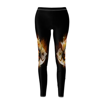 Tattoo Fire Wolf All Over Print Leggings