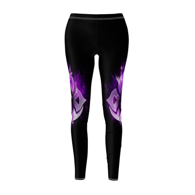 Purple Fire Wolf All Over Print Leggings