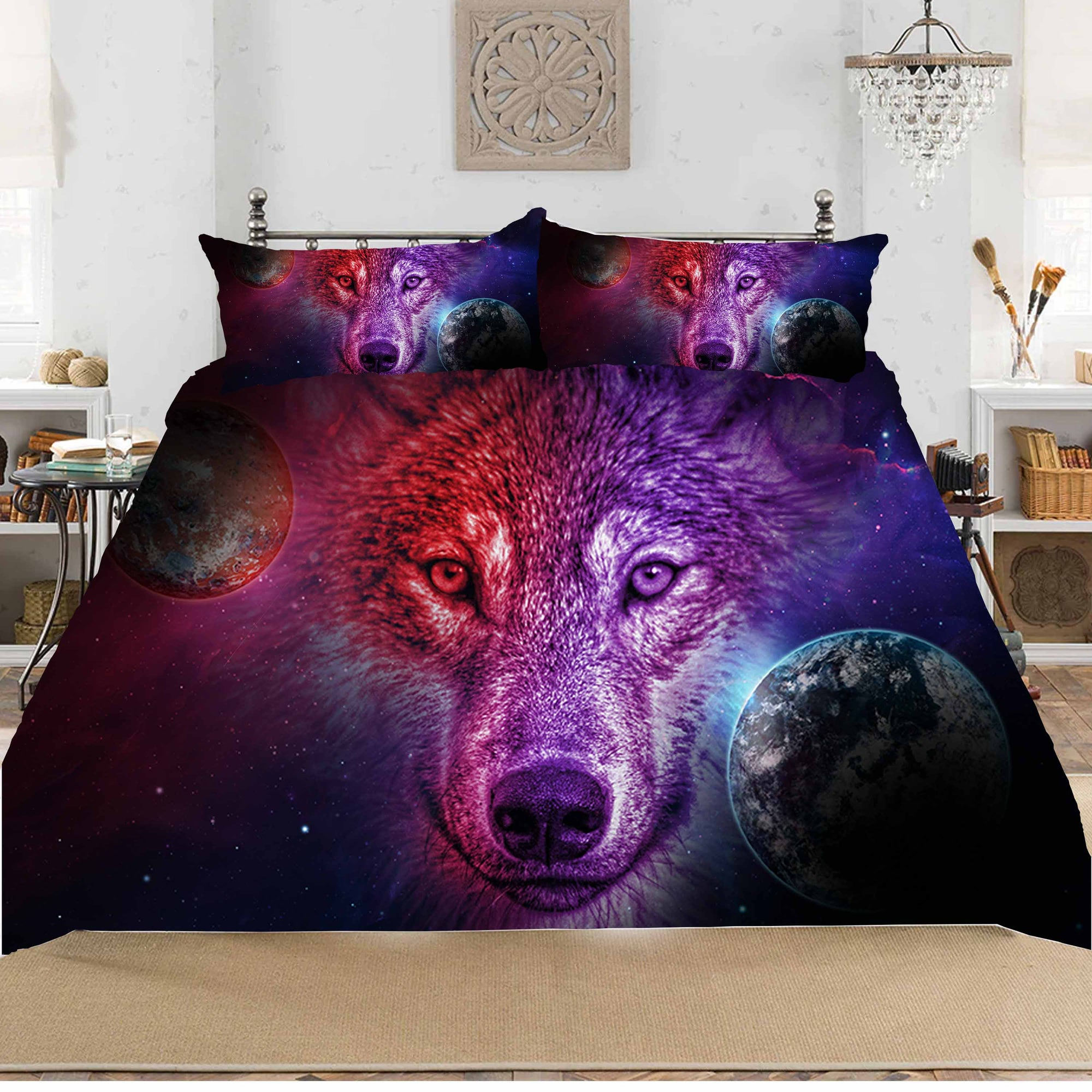 Dream Moon Wolf Bedding Set 3pcs