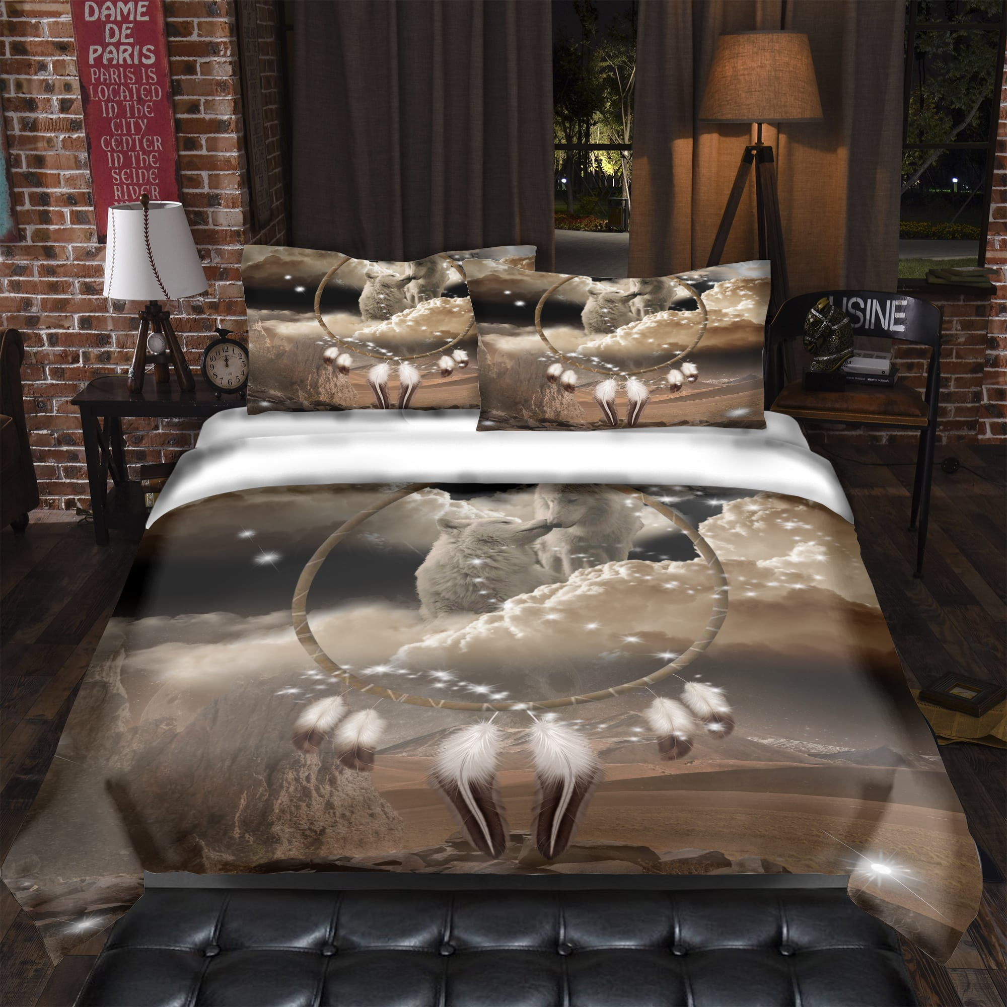 King and Queen of Dreams Bedding Set
