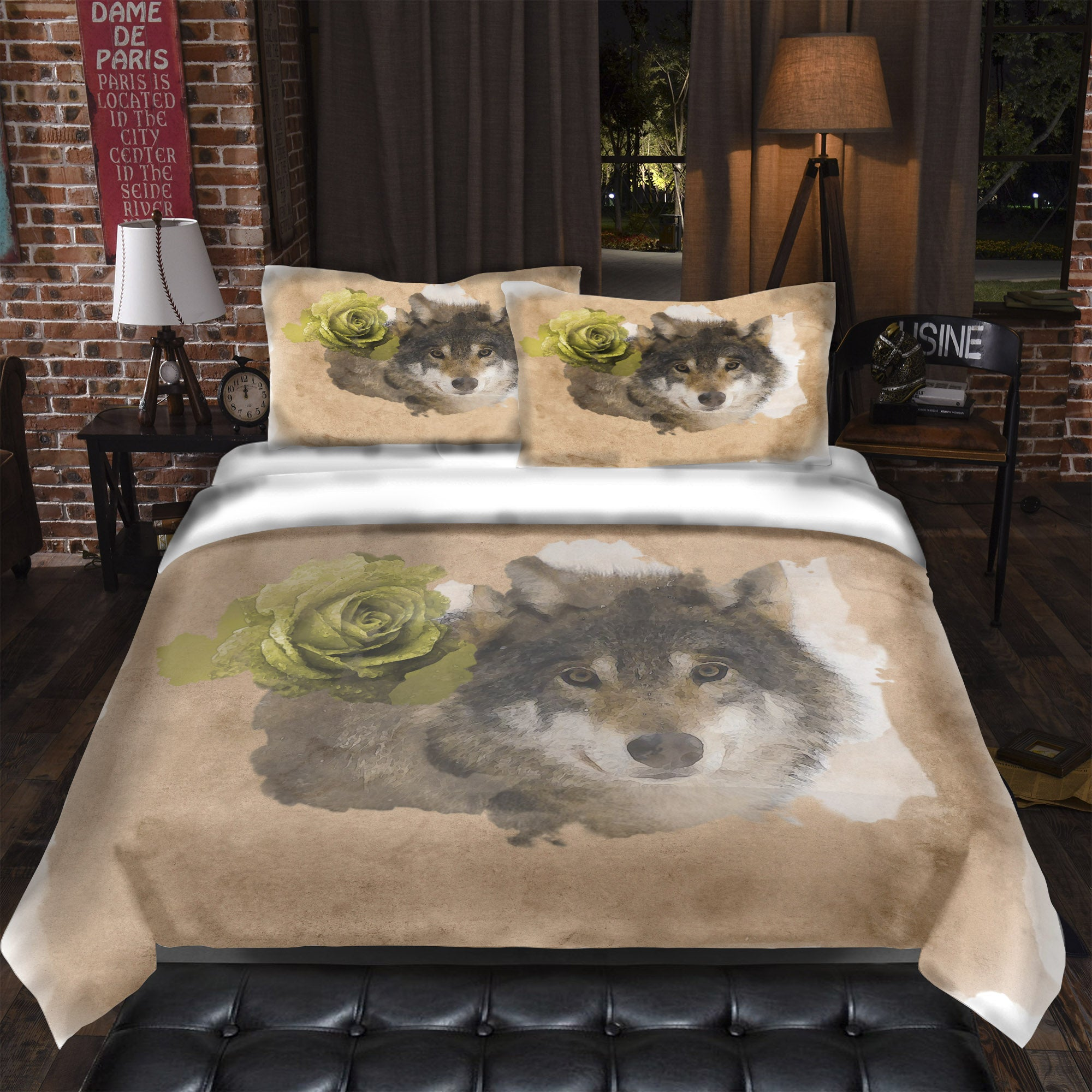Mirage Wolf Bedding Set