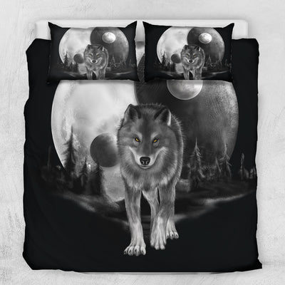 Luna Moon Wolf Bedding Set