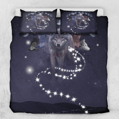 Phases of Luna Wolf Bedding Set