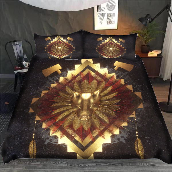 Spirit Wolf Warrior Bedding Set