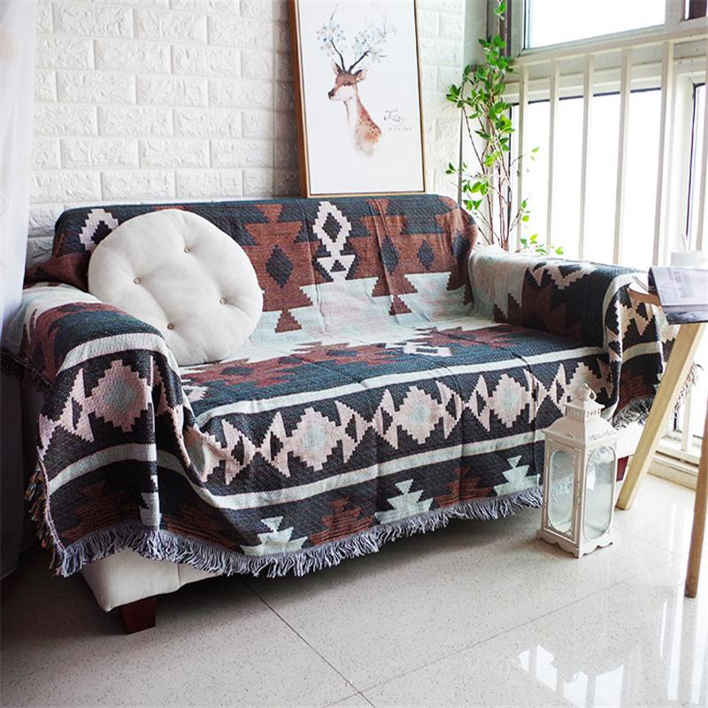 Blanket Sofa Cover: Native American Zia Sofa Throw Cover