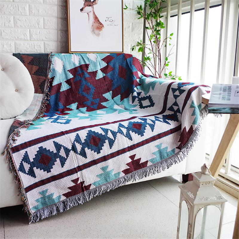 Terrific Native American Zia Sofa Throw Cover Wolvestuff Home Remodeling Inspirations Cosmcuboardxyz