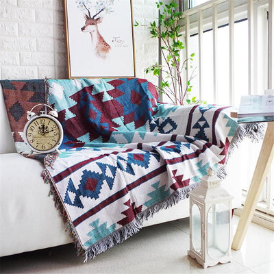 Native American Zia Sofa Throw Cover