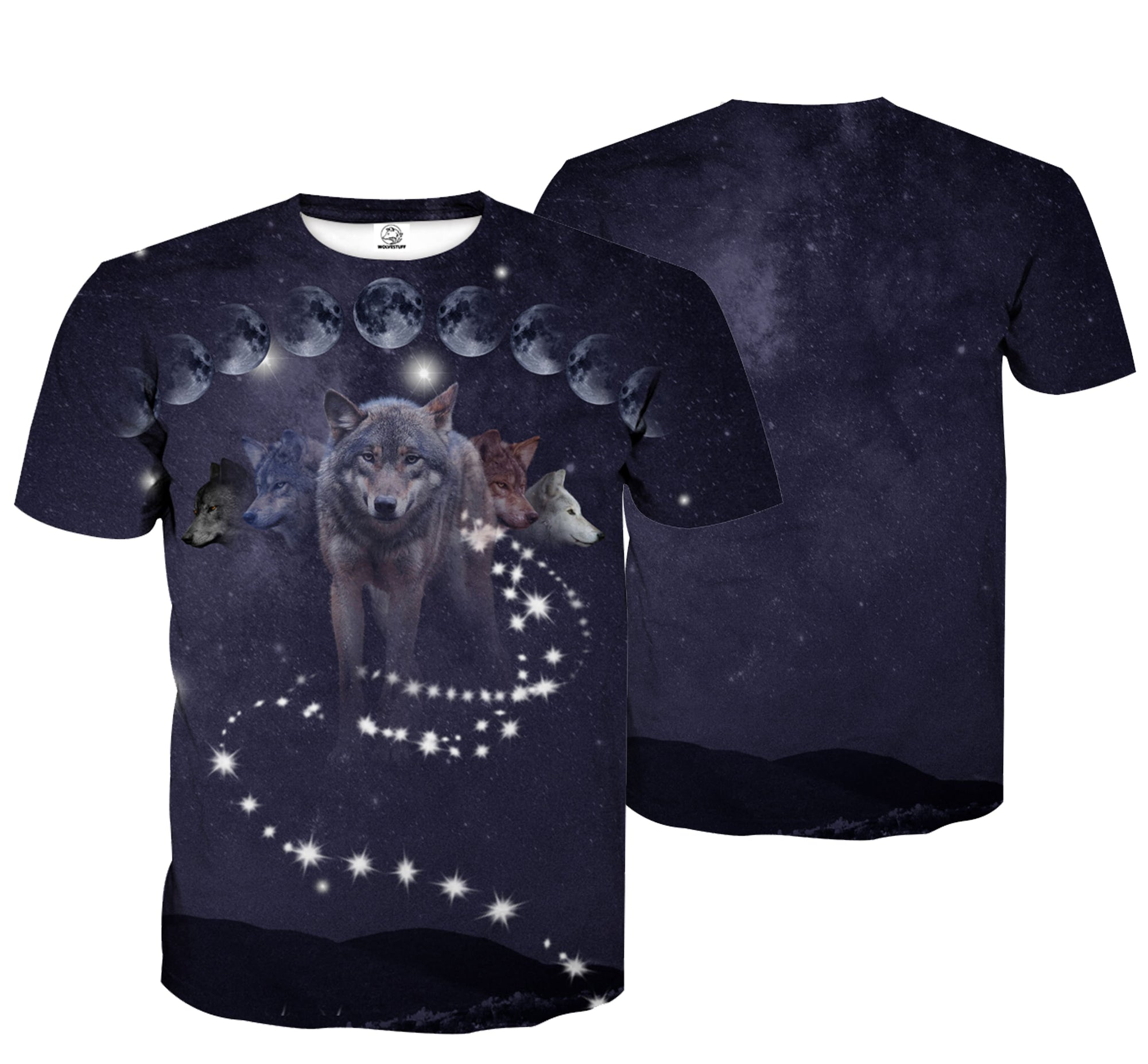 Phases of Luna Wolf Shirt