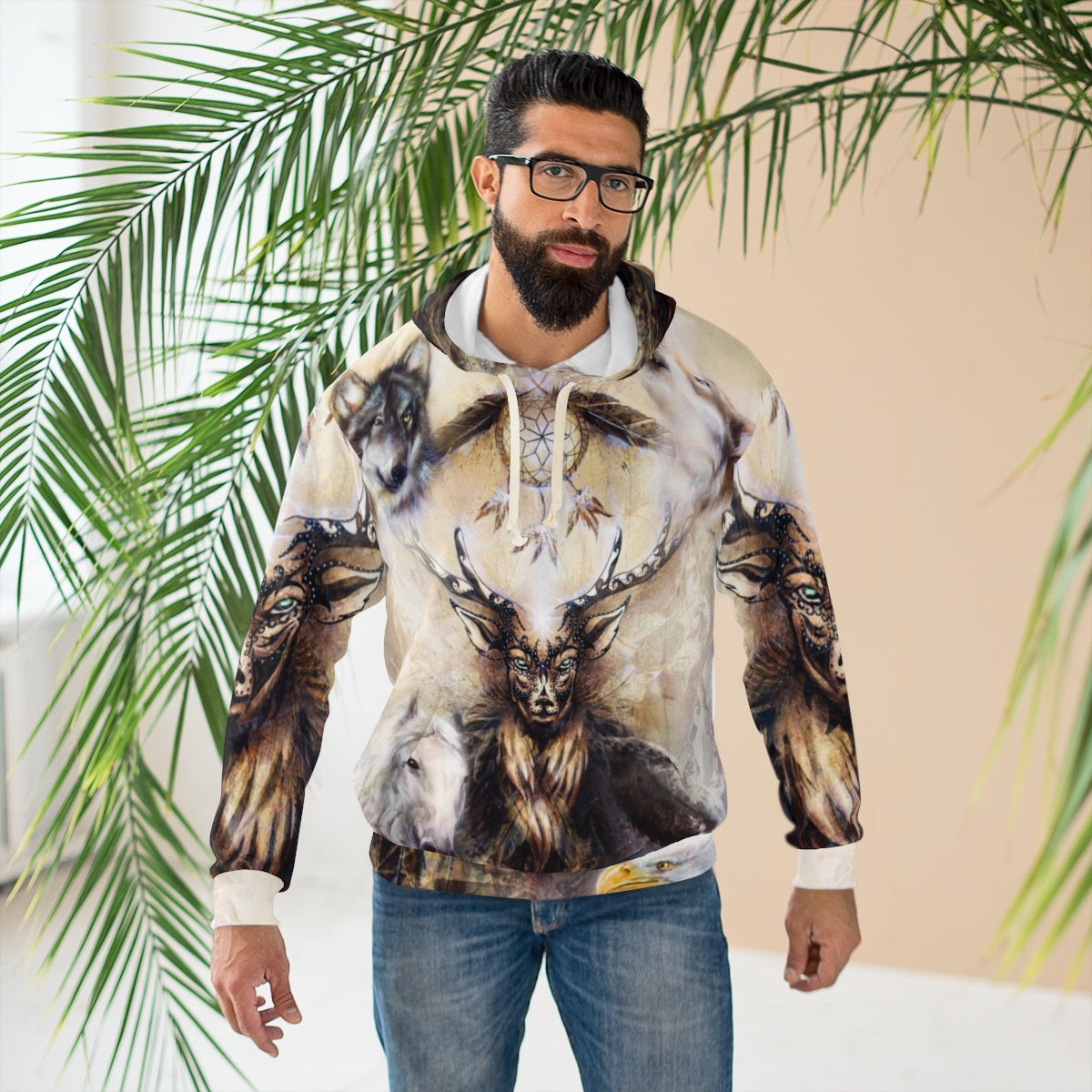 Sacred Ornamental Deer Spirit All Over Print Hoodie