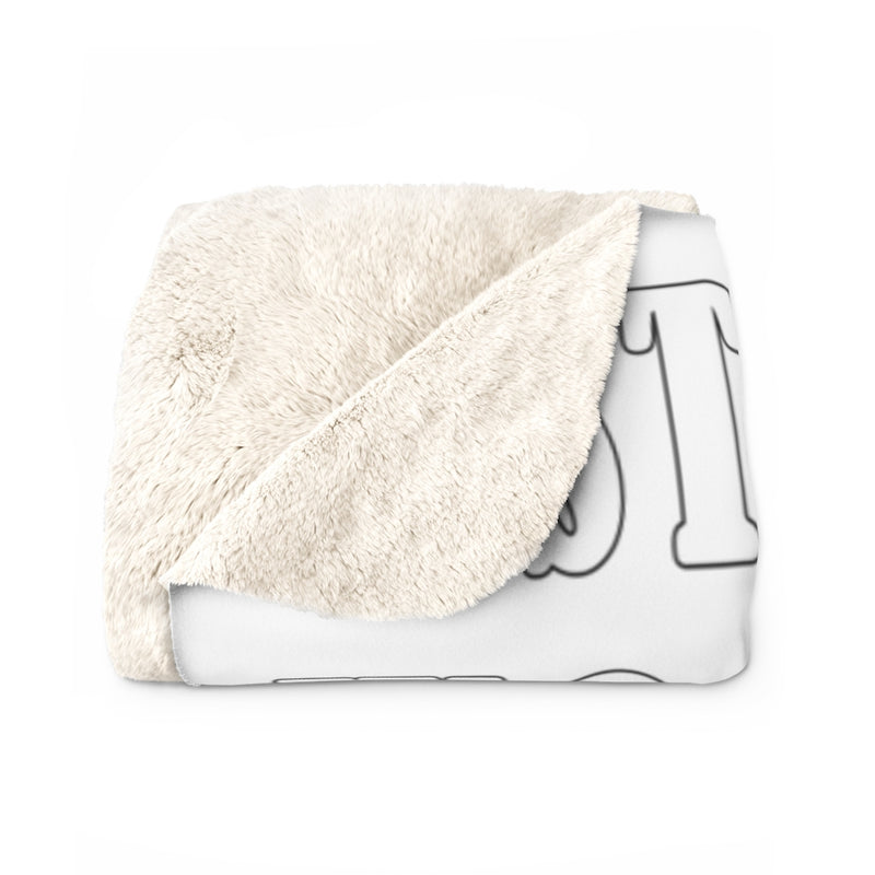 Stay At Home Sherpa Fleece Blanket