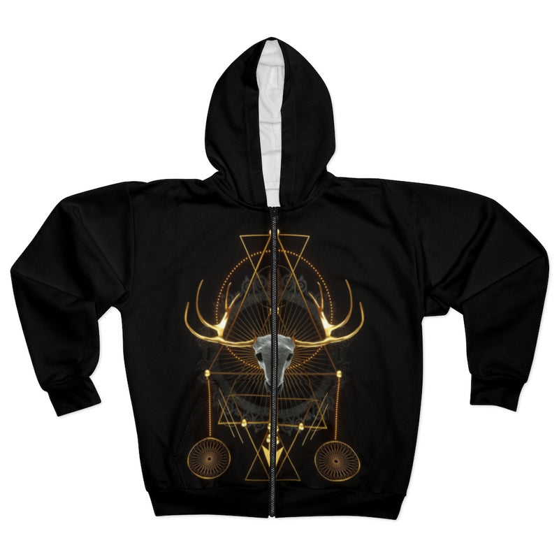 Ancient Elk All Over Print Zip Hoodie