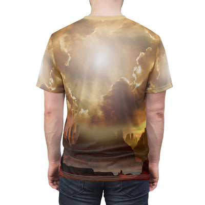 Song of the Elder Warrior Yellow All Over Print T-shirt