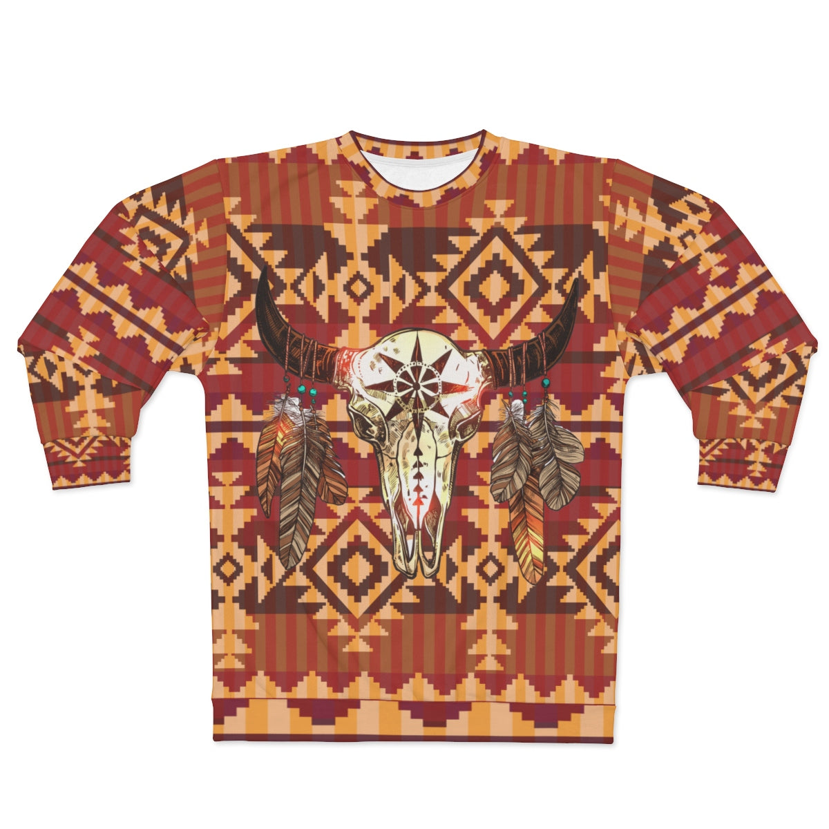 Sacred Buffalo All Over Print Sweatshirt