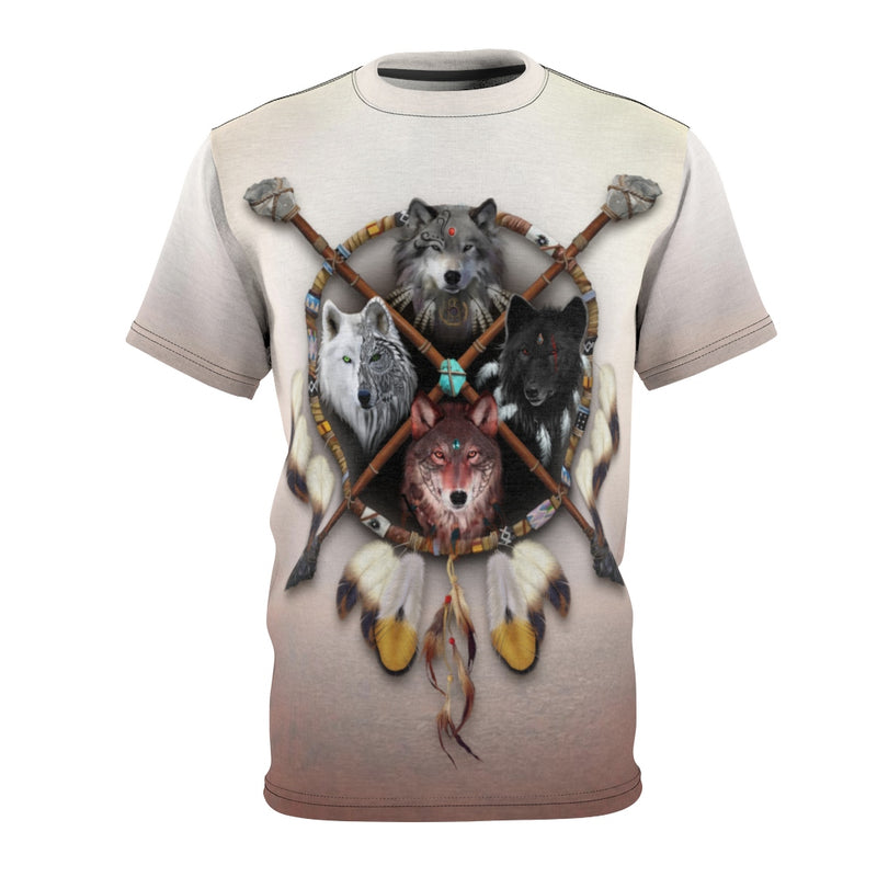 4 Wolves Warrior Light All Over Print T-shirt
