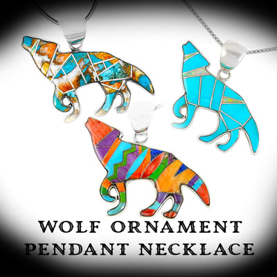 Wolf Ornament Pendant Necklace