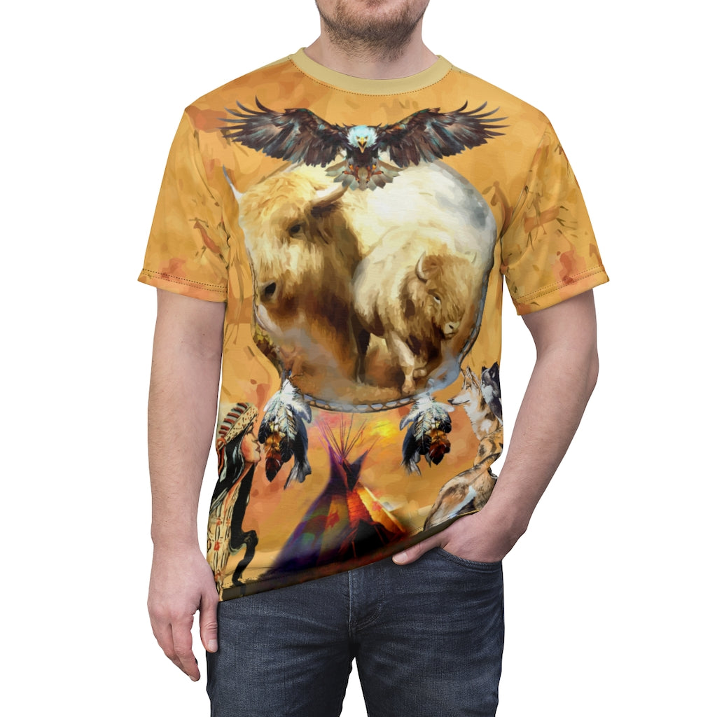 Totem Buffalo Over Print  T-shirt