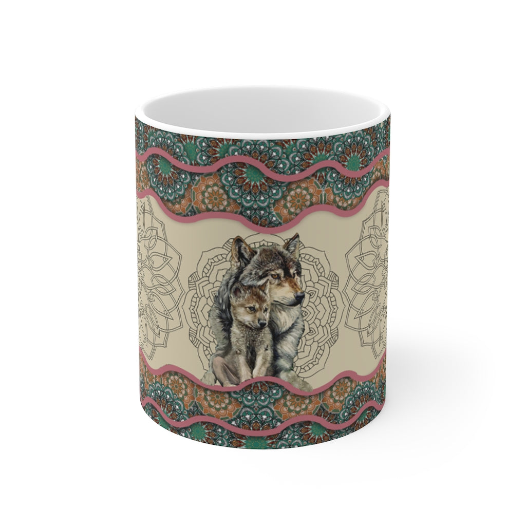 Wolf Mom's Love Mug 11oz