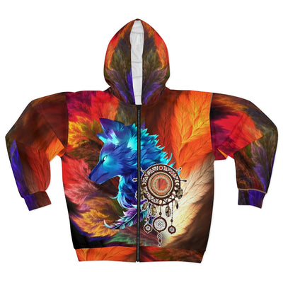 Storm Wolf All Over Print Zip Hoodie