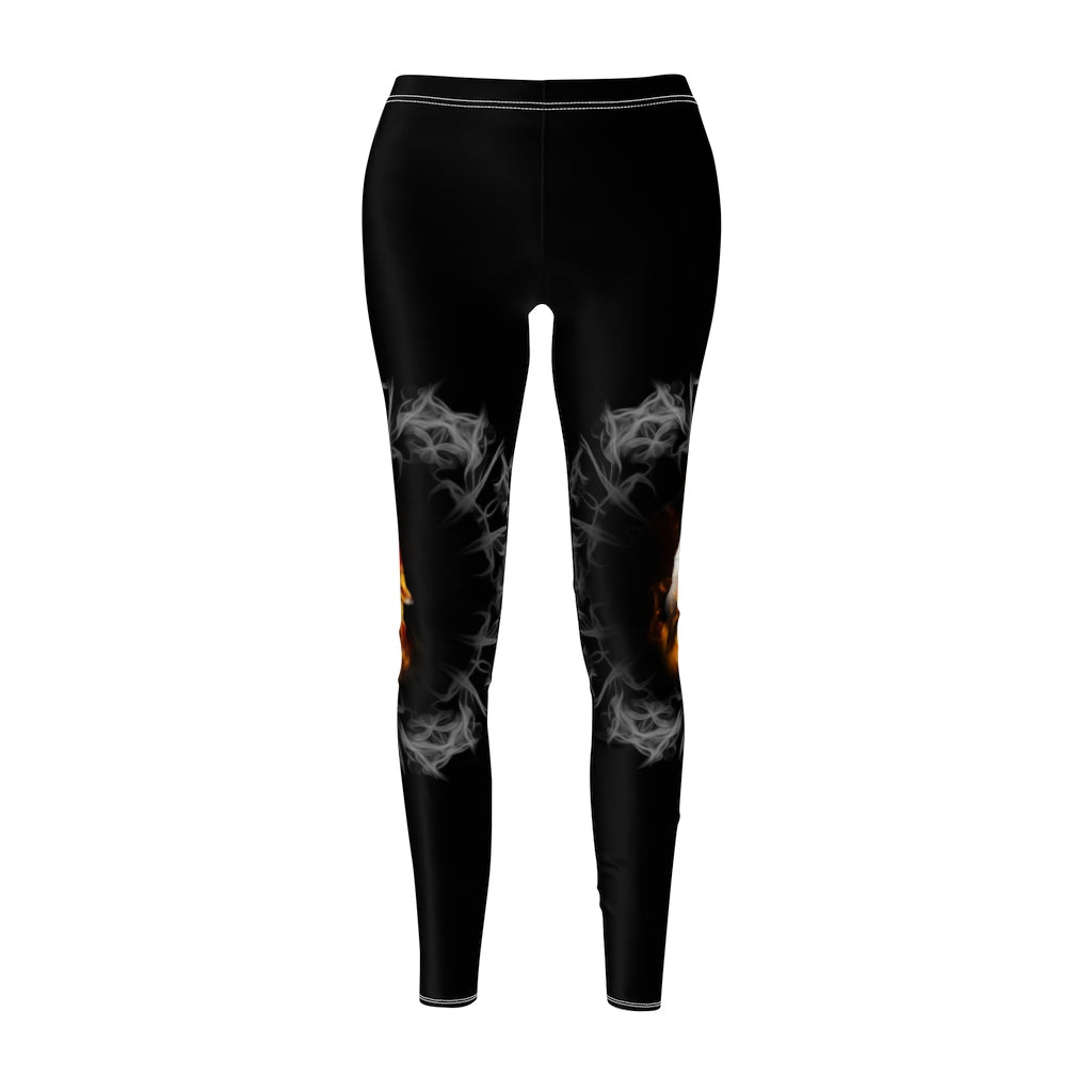Fire Blazing All Over Print Leggings