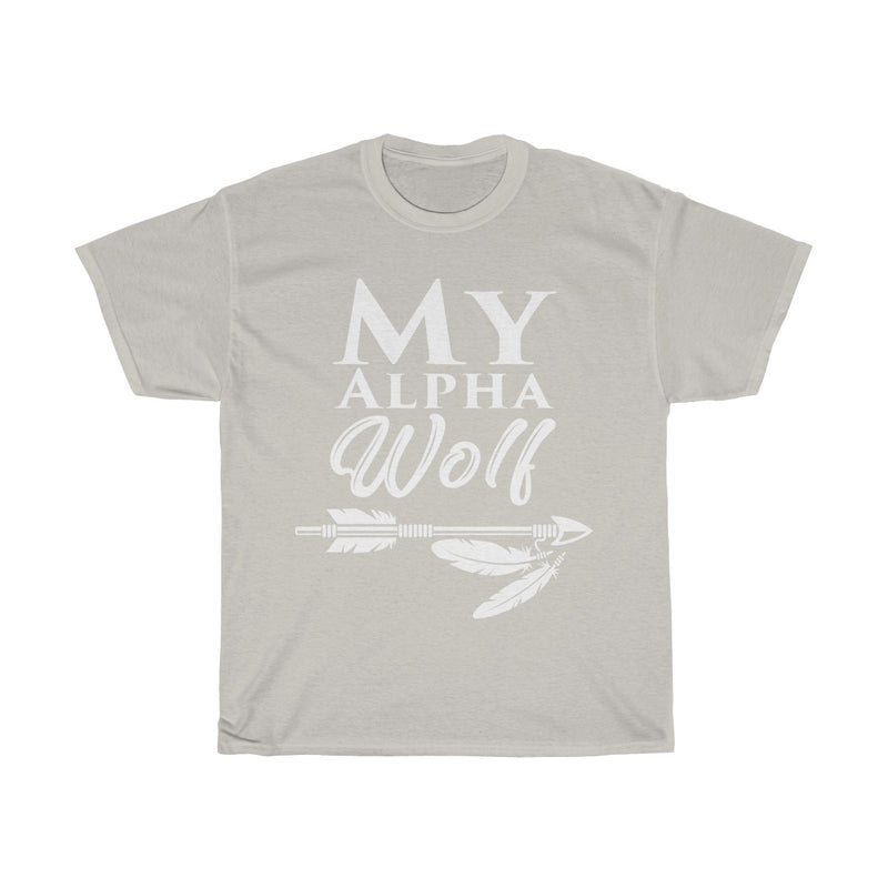 my alpha wolf (woman) - Unisex Heavy Cotton Tee