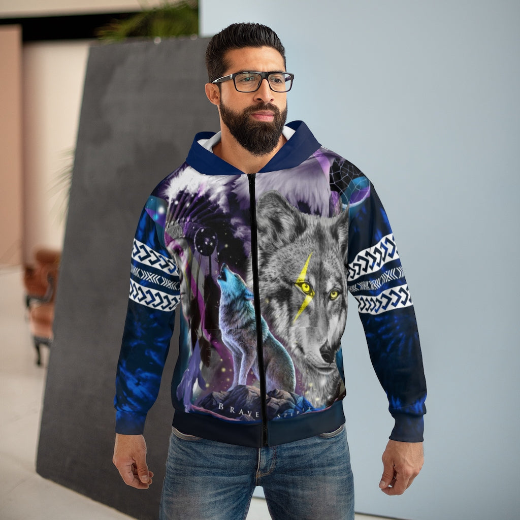 Brave Spirit All Over Print Zip Hoodie