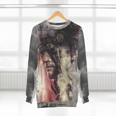 Native Warrior All Over Print Sweatshirt