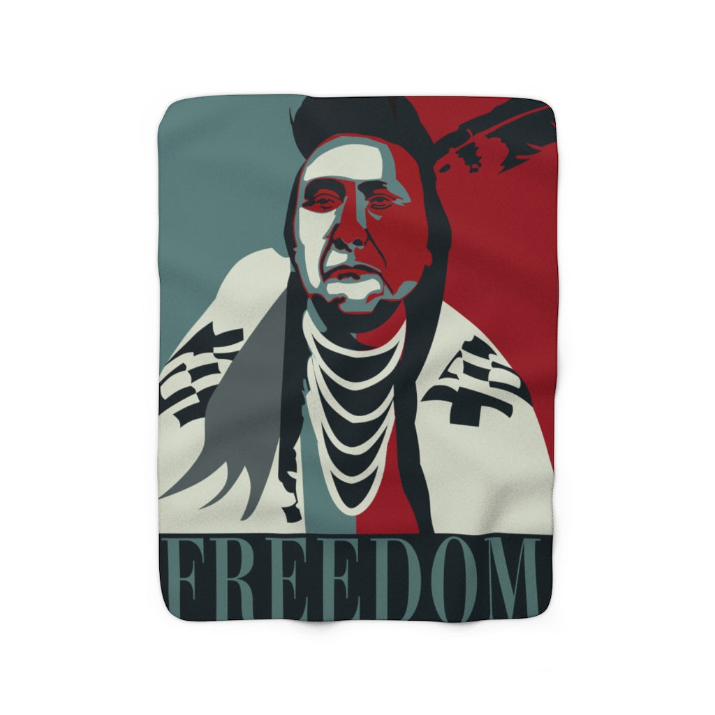 "Chief Joseph ""Freedom"" Sherpa Fleece Blanket"