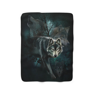 Shrouded by Mystery Sherpa Fleece Blanket