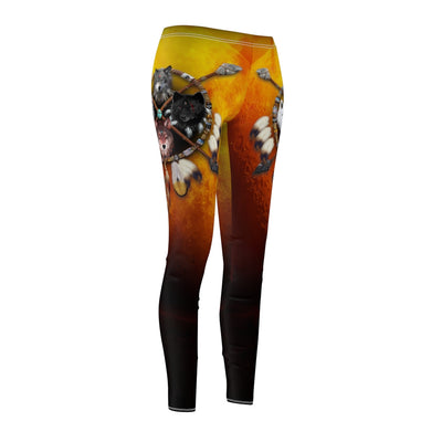 4 Wolves Warrior Dark All Over Print Leggings